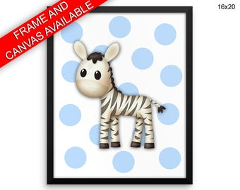 Zebra Canvas Art Zebra Printed Zebra Nursery Art Zebra Nursery Print Zebra Framed Art Zebra room decoration baby animal