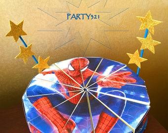 SpiderMan Puzzle Cake Slice Box - Paper Box, Printable Gift Box, Cake Boxes, Digital File - INSTANT DOWNLOAD