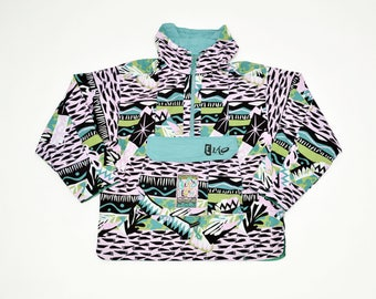 80s/90s vintage beach Windbreaker JACKET by ELHO / rain jacket / mens size M / medium / 100 % cotton