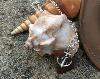 Dainty beach glass necklace