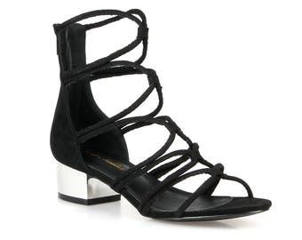 Mark and Maddux Nelson-01 Strappy Women's Heeled Sandals in Black