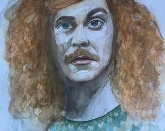 Original painting Blake Anderson Blake Henderson Workaholics