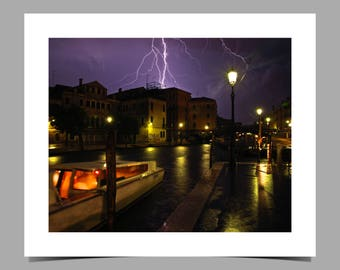 Lightning over Venice
