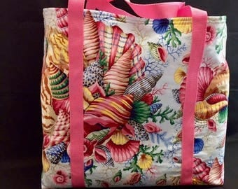 She Sells Sea Shells-Fun, Functional, Multiple Use, Fully Lined Cotton Tote Bags