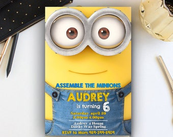 Minion Invitation, Minion Birthday Invitation, Minion Birthday, Minion Birthday Party, Minion Party, Minion Invite, Minion Printables