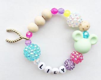Personalized Wishes Bracelet, Disney Jewelry, Disney Bracelet, Disney Wishes,