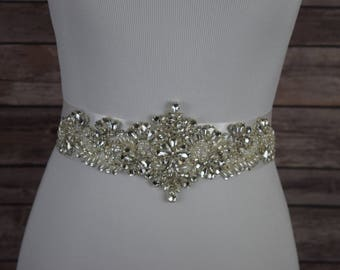 Bride Wedding Belt, Bridal Sash , Bridal Belt, Sash Belt, Crystal Rhinestone Sash, Crystal Rhinestone Belt, Belts and Sashes