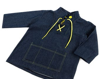 Denim play smock