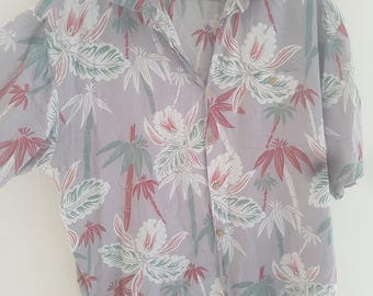 Mens XL S/S palm tree shirt