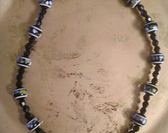 Black chocker necklace black beaded choker necklace simple black choker necklace black necklace black choker black costume jewelry