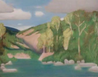 Scenery number 6, 12×16 soft pastel painting. Original art.
