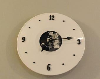 White Vinyl Clock