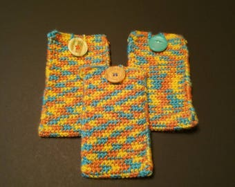 End The Backlog Crocheted Pouch