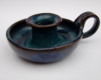 vintage pottery glazed candle holder,glazed ceramics