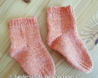 Hand knitted socks, children socks, knitted socks, woolen socks, size 20/21
