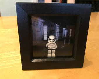 Star Wars - Stormtrooper Lego figure in frame