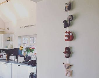 Handmade Woodland Animal Felt Garland