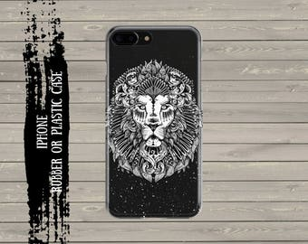 Lion iPhone 7 Plus case iPhone 7 case, iPhone 6 / 6s / 6 Plus Case, iPhone 5s / SE / 5 Case, Hard plastic/ rubber case.