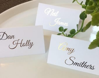 Wedding Name Cards, Place Cards, Gold Foil, Personalised, Wedding Stationary, The Violet Collection