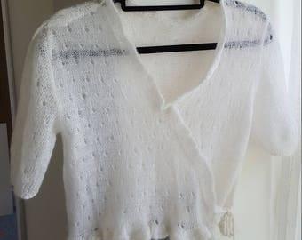 HANDKNITSTUDIO The Delicate White Knit