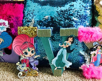 Shimmer and Shine Lettwrs