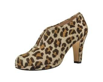 Wide Fit Leopard Shoe Boot