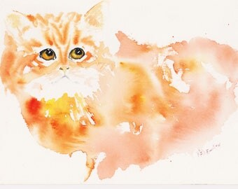 The Ginger, signed watercolor print