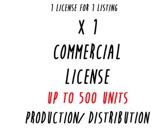 commercial license for 1 listing