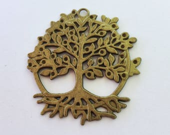 Antiqued Bronze Family Tree Charms 50 x 46mm