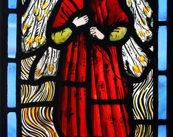 Beautiful recreation of William Morris Stained Glass Angel.