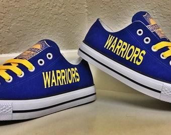 Golden State Warriors Royal/Blue Women's & Men's Canvas Tennis Shoes