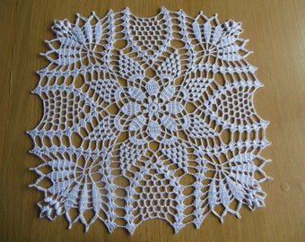 """Cyprus"" square crochet doily"