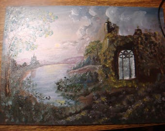 "The Gothic landscape ""old Castle"""