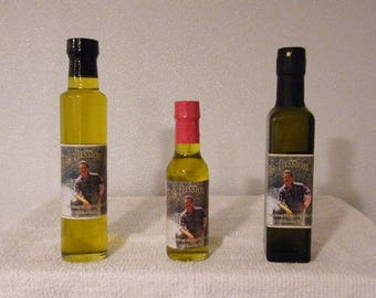 Garlic Infused 100% Imported Extra Virgin Olive Oil - Two 5.0 Oz. Bottles