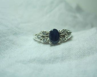Blue Sapphire Ring, bue sapphire sterling silver ring,beautyful ring