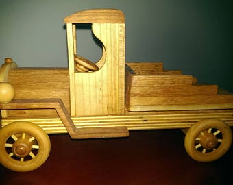 Wood toy truck ccab_3