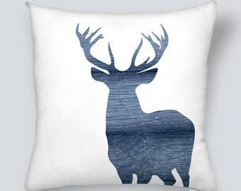 Pillow cover - Silhouette deer and wood