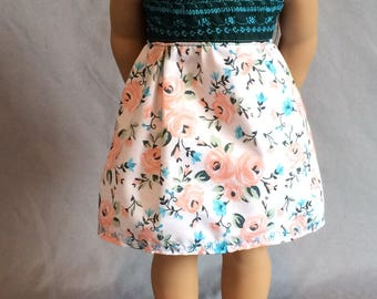 American Girl Doll Floral Dress