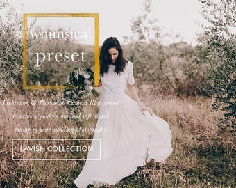 Whimsical wedding etsy whimsical wedding lightroom and photoshop preset professional wedding presets the lavish collection for lightroom and junglespirit Image collections