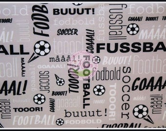 Football Soccer Jersey sporty dots grey fabric