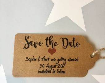 10x Save the Date gift tag