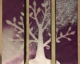 3 piece tree painting