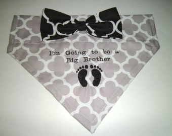 Gender Reveal, Dog Bandana, Pregnancy reveal,  I'm Going to be a Big Brother, Dog Loves, Gift, Photo shoot,  New Baby,   Baby Announcement