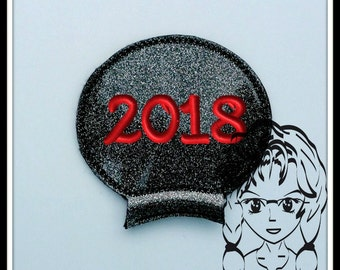 2018 Year Ear (Add On ~ 1 Pc) Mr Miss Mouse Ears Headband ~ In the Hoop ~ Downloadable DiGiTaL Machine Embroidery Design by Carrie