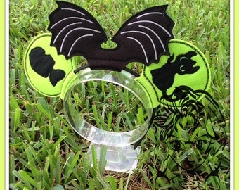 DRAGON Baby Inspired Character (4 Piece) Mr Miss Mouse Ears Headband ~ In the Hoop ~ Downloadable DiGiTaL Machine Emb Design by Carrie