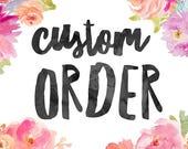 Custom Earring Order for Nira