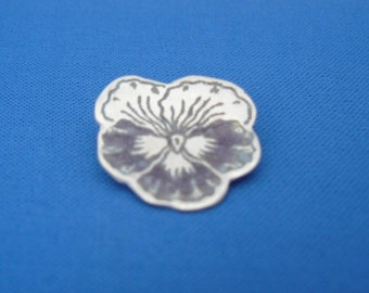 Enamelled pansy Broach available in purple or black