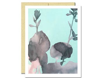 Hosta Shadow Notecard // Everyday Card // Modern Card // Blank Notecard // Plant Card // NW Artist // Rachel Austin Card
