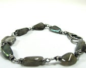 Flash Bracelet, Labradorite, Hill Tribe, Sterling Silver, Vermeil Bracelet