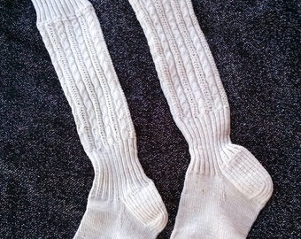Vintage 1940s Childrens Cotton Long Stockings Childs Size 12 201729